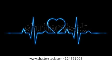 vector - Cardiogram of love - stock vector