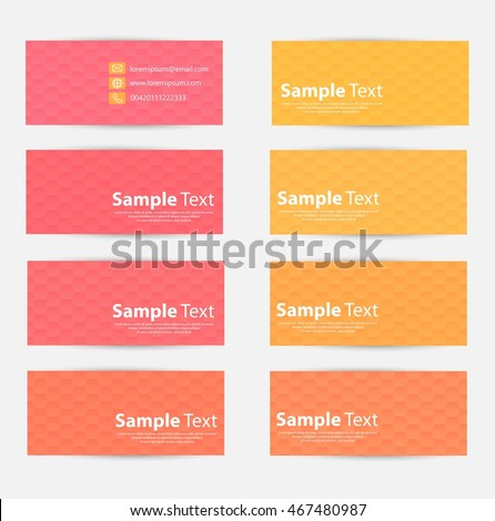 Vector cards with hexagons with place for your text EPS10