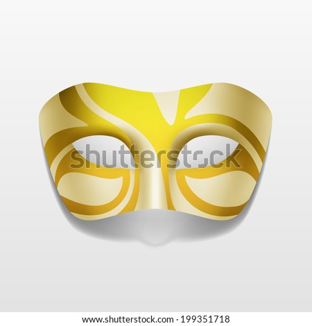 Vector Carnival Masquerade Party Mask Isolated on White Background