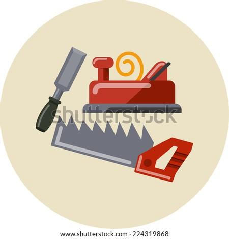 Vector Carpentry Tools - stock vector