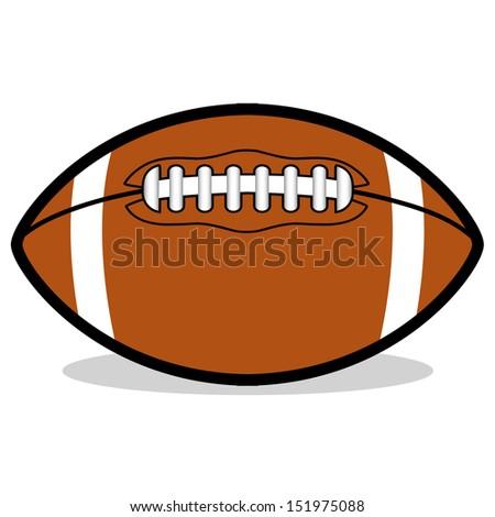Vector Cartoon American Football Ball - stock vector