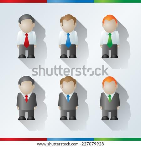 Vector cartoon businessmen - stock vector