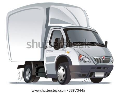 Vector cartoon cargo truck. More vector cartoon cars see in my portfolio - stock vector