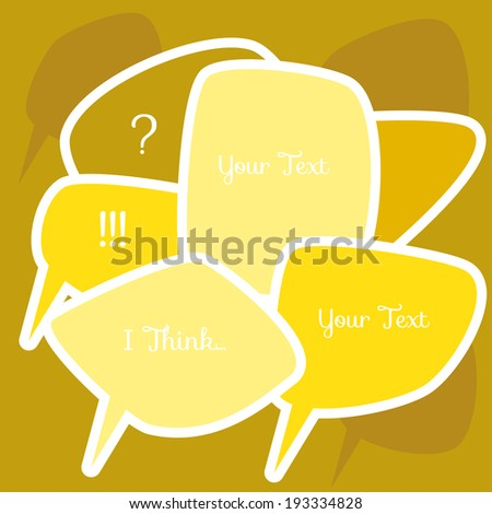 vector cartoon colorful speech bubbles - stock vector
