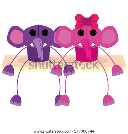 Vector Cartoon Couple Of Cute Characters Isolated