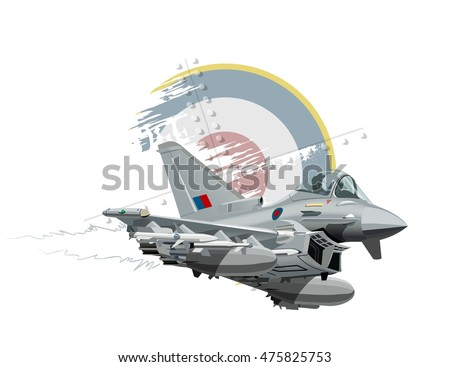 Vector Cartoon Fighter Plane. Available EPS-10 format separated bu groups and layers for easy edit