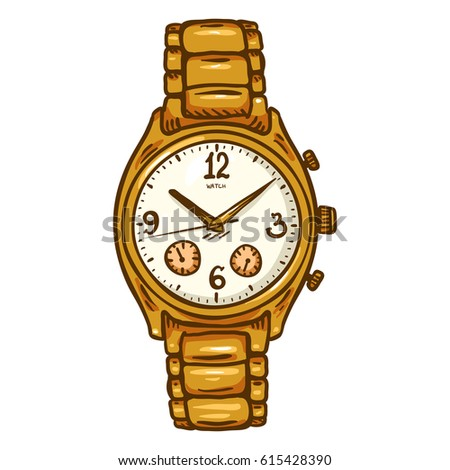Watch gold silver collection design vector stock vector 477123937 shutterstock for Cartoon watches