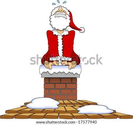 Top 28 Santa Claus Stuck In A Santa Claus Stuck In