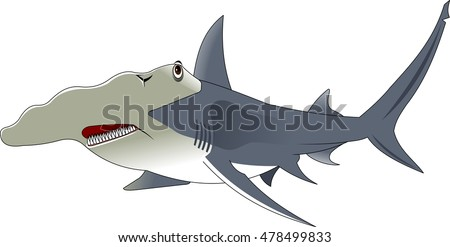 Vector cartoon - Hammerhead Shark
