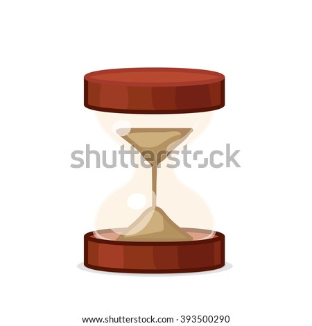 vector Cartoon illustration hourglass. Clip art isolated on white background. EPS 10 without mesh