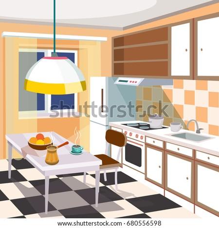 contemporary kitchen stock vectors images vector art shutterstock. Black Bedroom Furniture Sets. Home Design Ideas