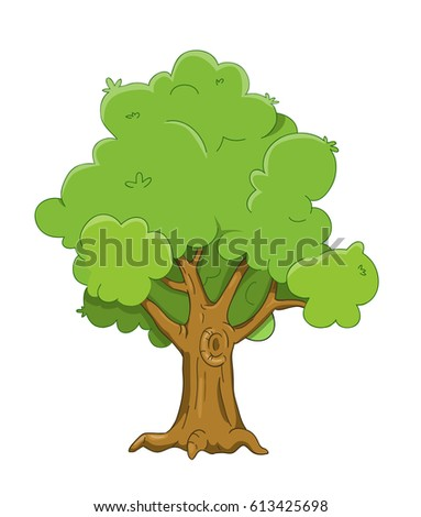 White Oak Tree Cartoon