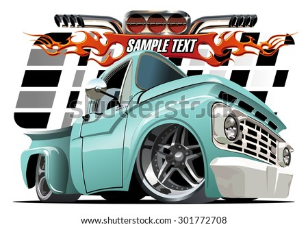 Vector cartoon Lowrider. Available EPS-10 separated by groups and layers with transparency effects for one-click repaint - stock vector