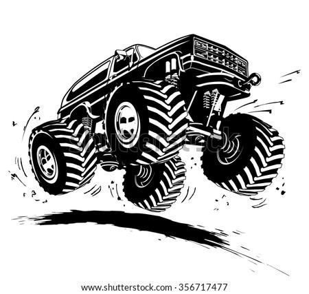 Vector Cartoon Monster Truck. Available EPS-8 vector format
