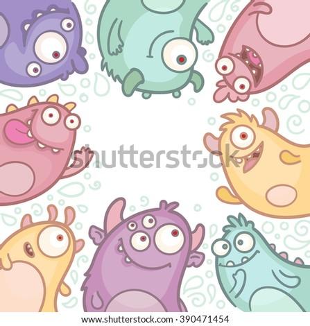 Vector Cartoon Monsters - stock vector