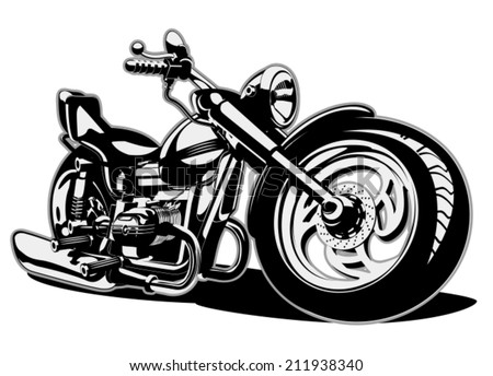 Vector Cartoon Motobike. Eps-8 separated by layers for easy edit - stock vector