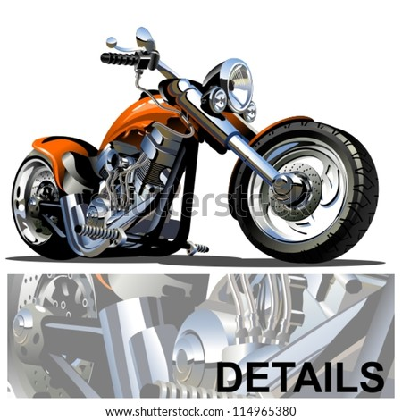 Vector Cartoon Motorbike - stock vector