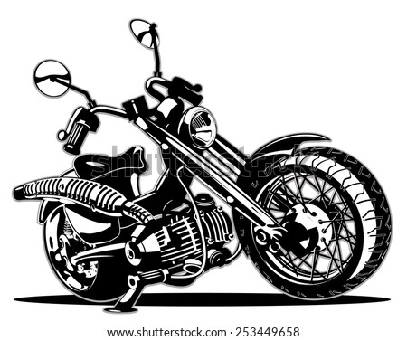 Vector Cartoon Motorbike - stock vector