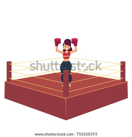 Ring Girl Fight Stock Images Royalty Free Images