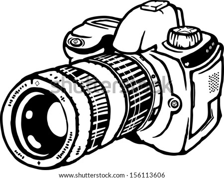 how to draw a slr camera