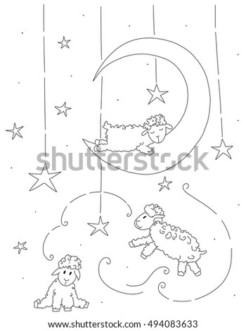 sleeping sheep coloring pages - photo#20