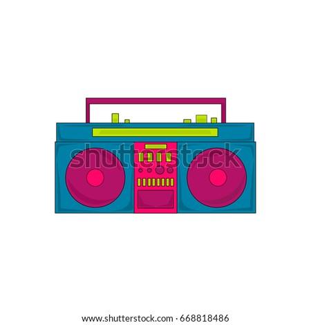 Vector Cartoon Retro Boombox Stock Vector 668818486 ...