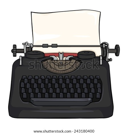 Vector Cartoon Retro Typewriter