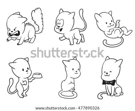 Cat Begging Food Drawing