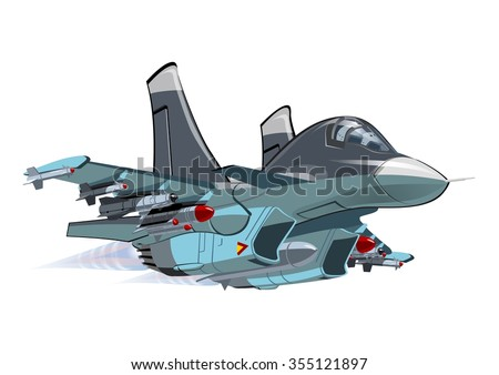 Vector Cartoon Strike Fighter. Available EPS-10 vector format separated by groups and layers for easy edit