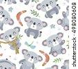 vector cartoon style koala...