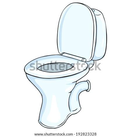 Vector Cartoon Toilet Pan - stock vector