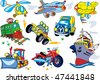 Vector cartoon transport set - stock vector