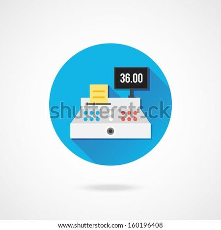 Vector Cash Register Icon - stock vector
