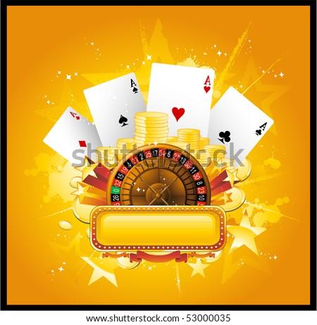 Vector casino background - stock vector