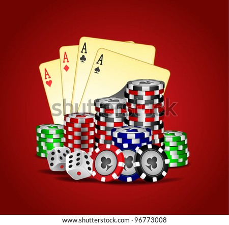 vector casino element - stock vector