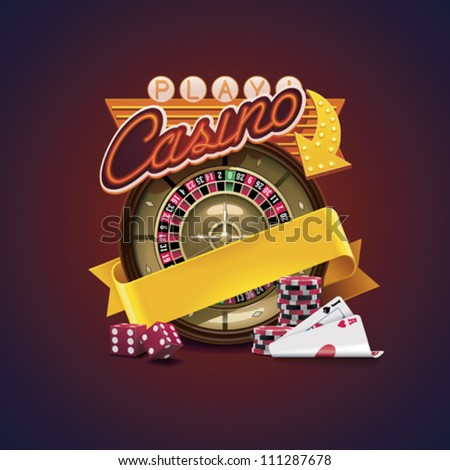 Vector casino icon - stock vector