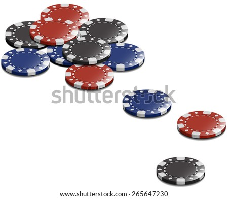 Vector Casino Stake Chip Isolated on White Background - stock vector