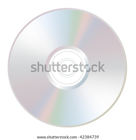 Vector CD on white - stock vector