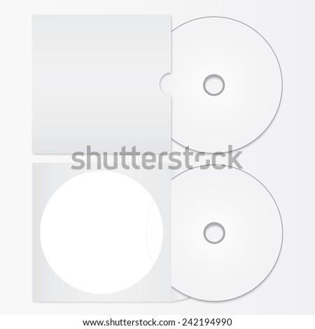 Vector CD or DVD - stock vector