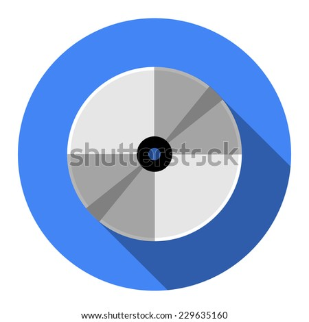 Vector CD or DVD icon, vector illustration. Flat design style. - stock vector