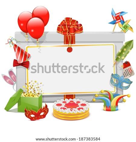 Vector Celebration Board - stock vector