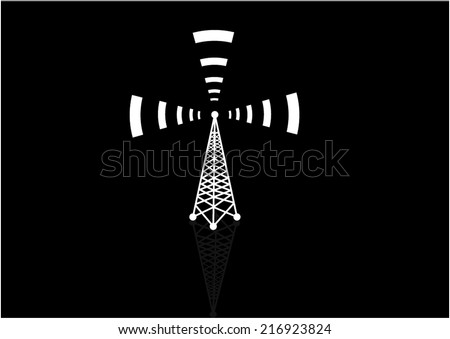 Vector Cell Tower - stock vector