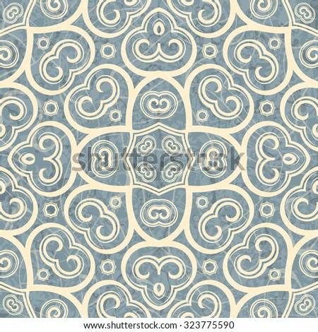 Vector celtic geometric seamless pattern background. - stock vector