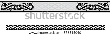 Vector celtic ornament floral frame.  - stock vector