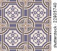 Vector ceramic tiles with seamless pattern 1 - stock photo