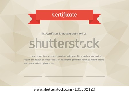 Vector certificate background. Modern flat style - stock vector