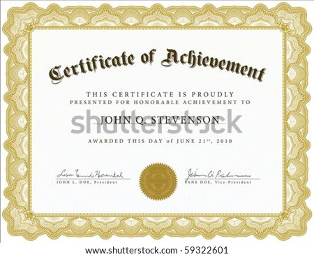 Vector certificate. Easy to edit and change colors. - stock vector