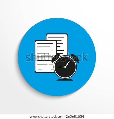 Vector certificate flat icon illustration - stock vector
