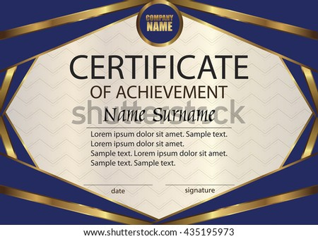 Vector Certificate Or Diploma Template. Award Winner. Reward. Winning The  Competition. The  Certificate Winner