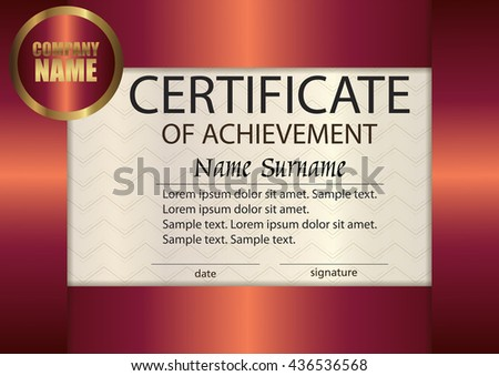 Vector Certificate Appreciation Template Award Winner Stock Vector